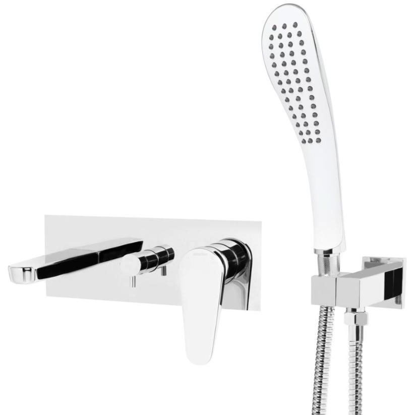 Bristan Claret Wall Mounted Bath Shower Mixer Tap - Chrome