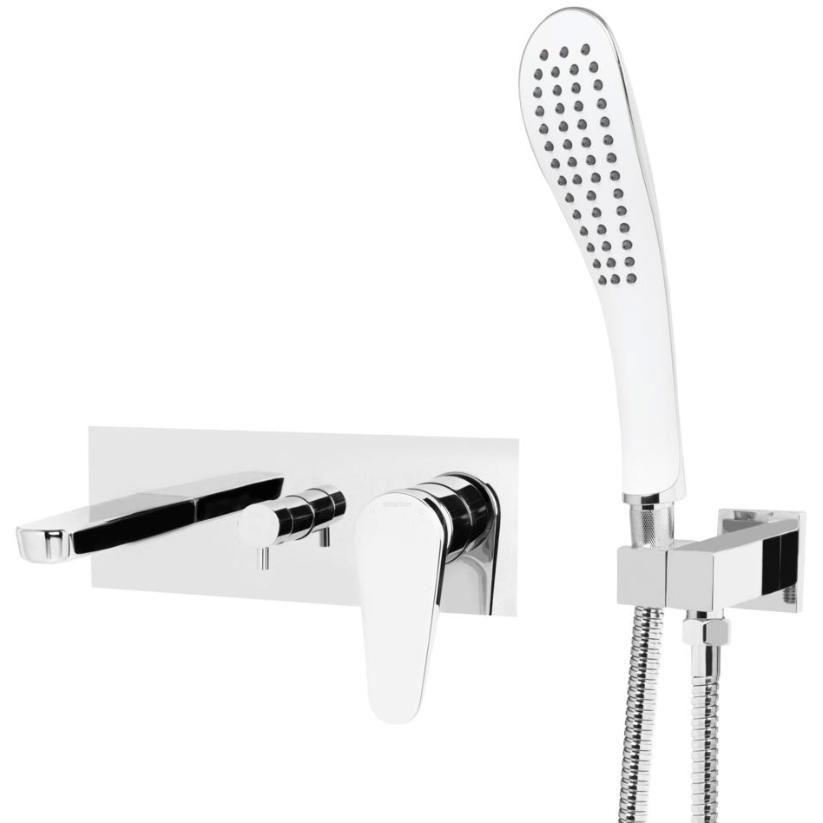 Bristan Claret Wall Mounted Bath Shower Mixer Tap - Chrome-0
