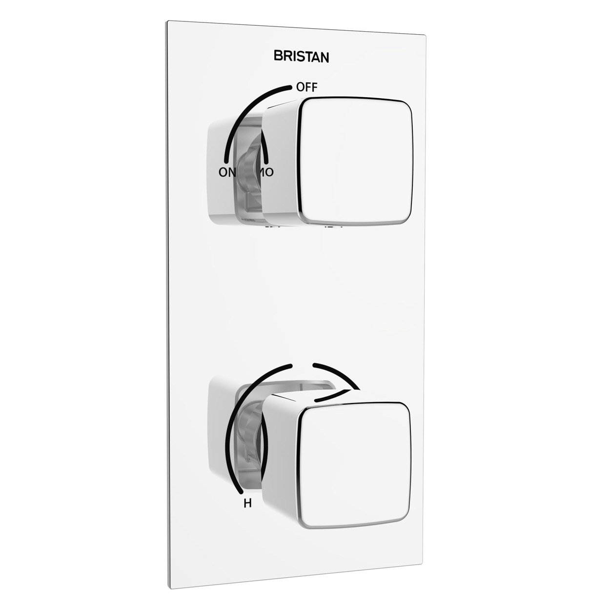 Bristan Cobalt Thermostatic Recessed Dual Control Shower Valve with Integral Diverter - Chrome-0