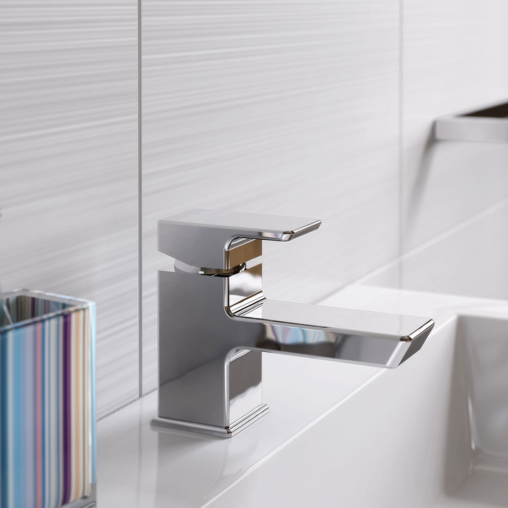 Bristan Cobalt Basin Mixer Tap with Clicker Waste - Chrome