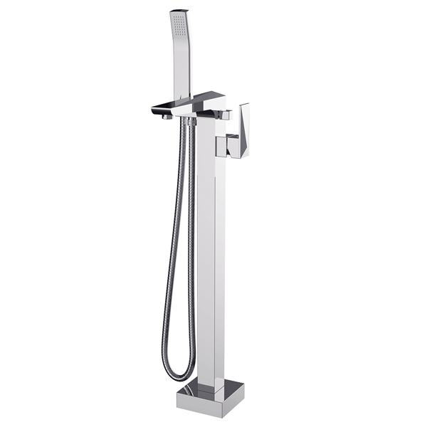 Bristan Ebony Bath Shower Mixer Tap, Floor Mounted, Chrome