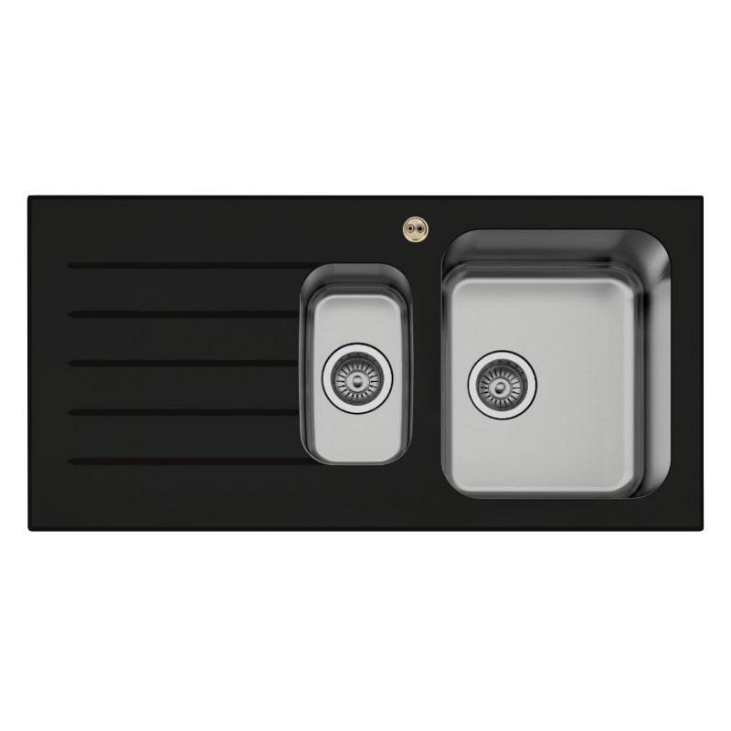 Kitchen Sink Black: Bristan Gallery Glacier Kitchen Sink