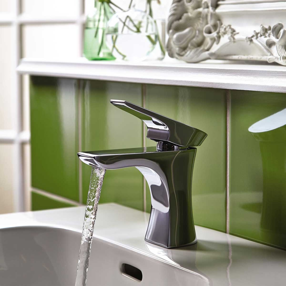 Bristan Hourglass Mono Basin Mixer Tap with Waste Single Handle - Chrome
