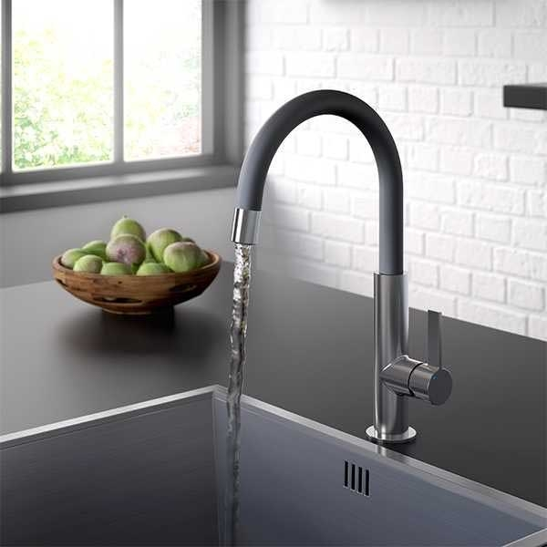Bristan Melba Kitchen Sink Mixer Tap - Black-0