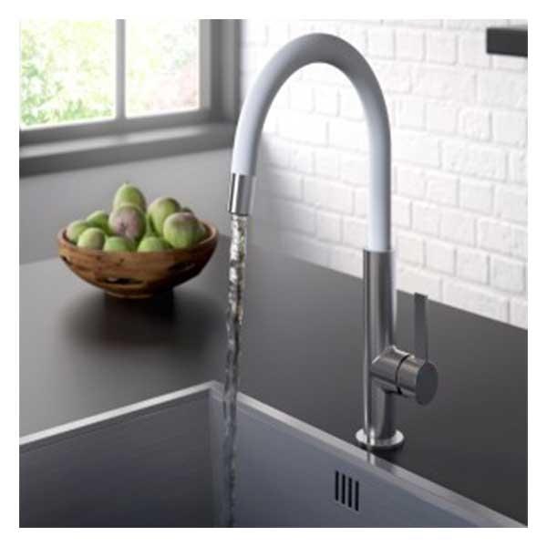 Bristan Melba Kitchen Sink Mixer Tap - White-0