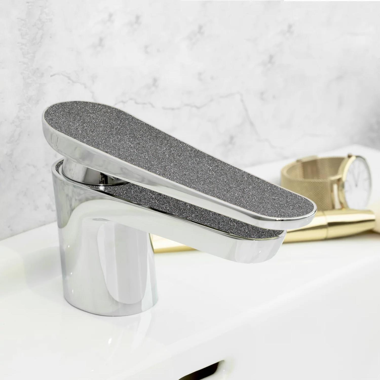 Bristan Metallix 1 Hole Claret Bath Filler Tap - Graphite Glisten-0