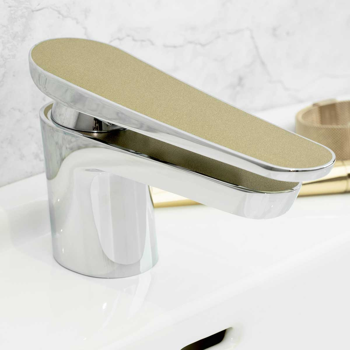 Bristan Metallix Claret Basin Mixer Tap - Champagne Shimmer-0