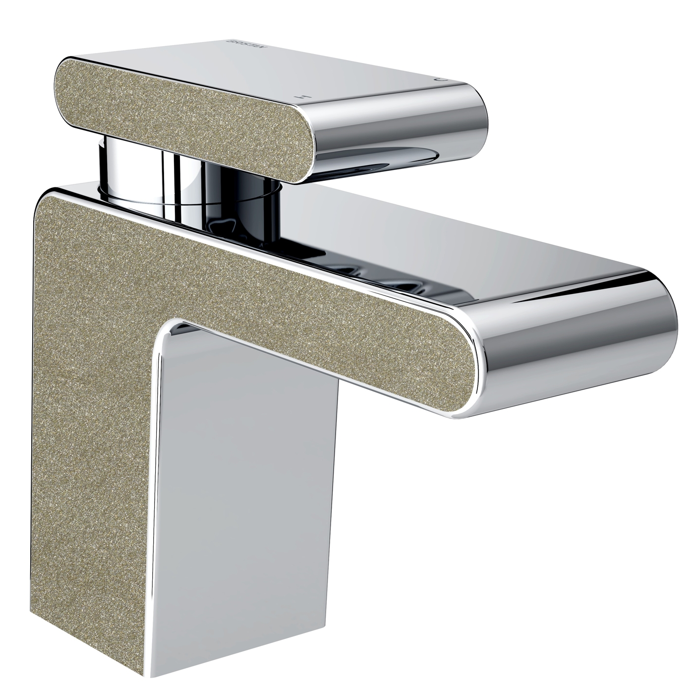 Bristan Metallix Pivot Basin Mixer Tap with Clicker Waste - Champagne Shimmer