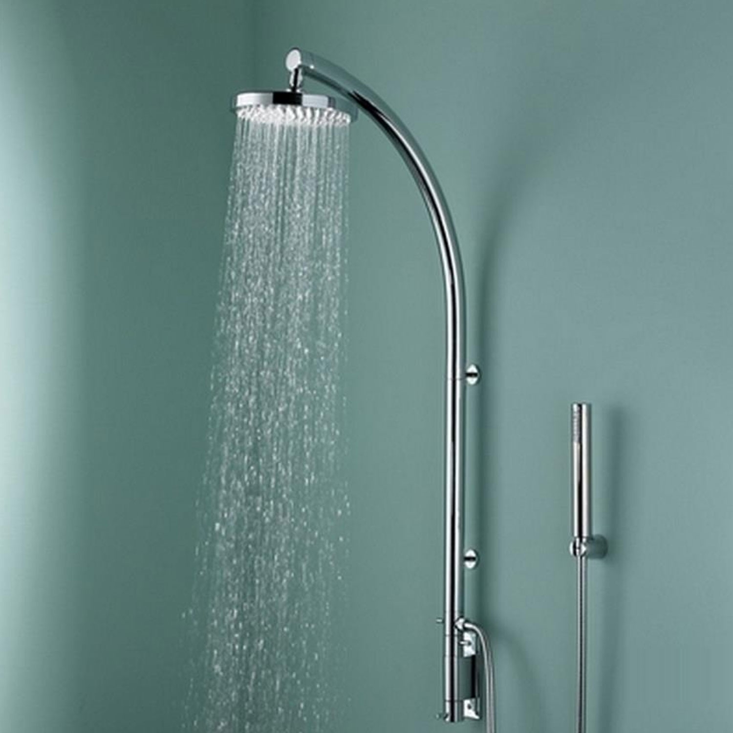 Bristan Orb Inline Dual Exposed Mixer Shower with Shower Kit + Fixed Head