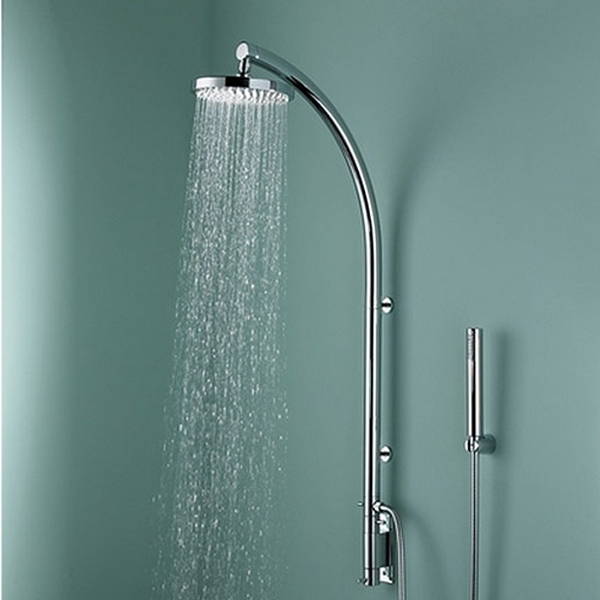 Bristan Orb Inline Dual Exposed Mixer Shower with Shower Kit + Fixed Head-0