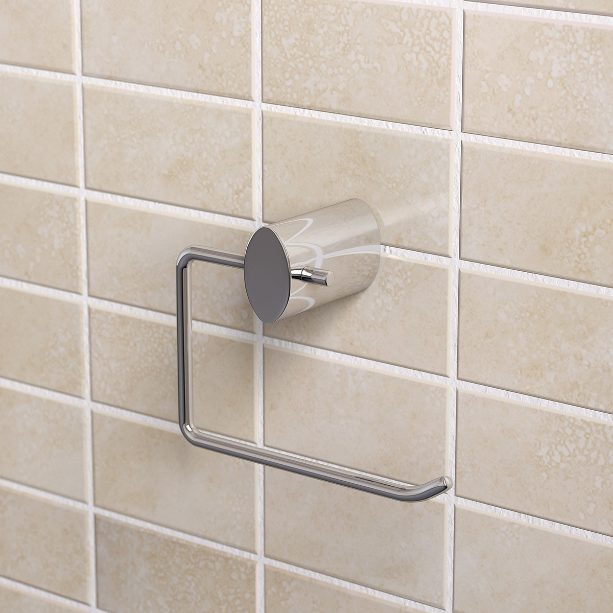 Bristan Oval Brass Toilet Roll Holder, Chrome Plated