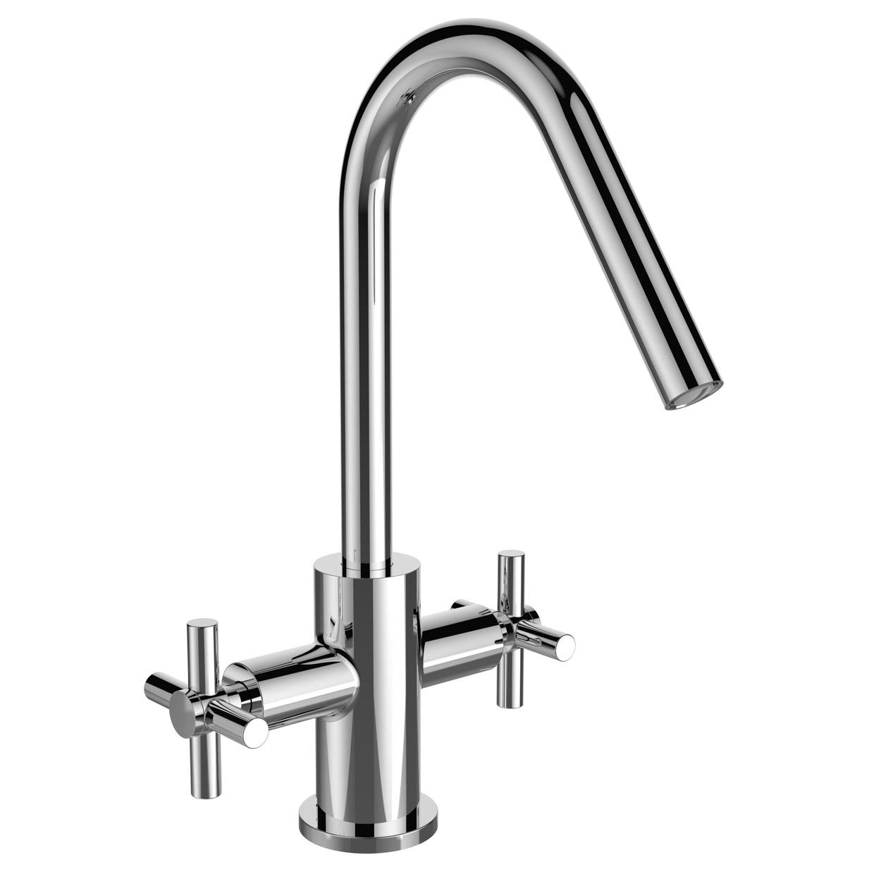 Bristan Pecan EasyFit Mono Kitchen Sink Mixer Tap Dual Handle - Chrome-0