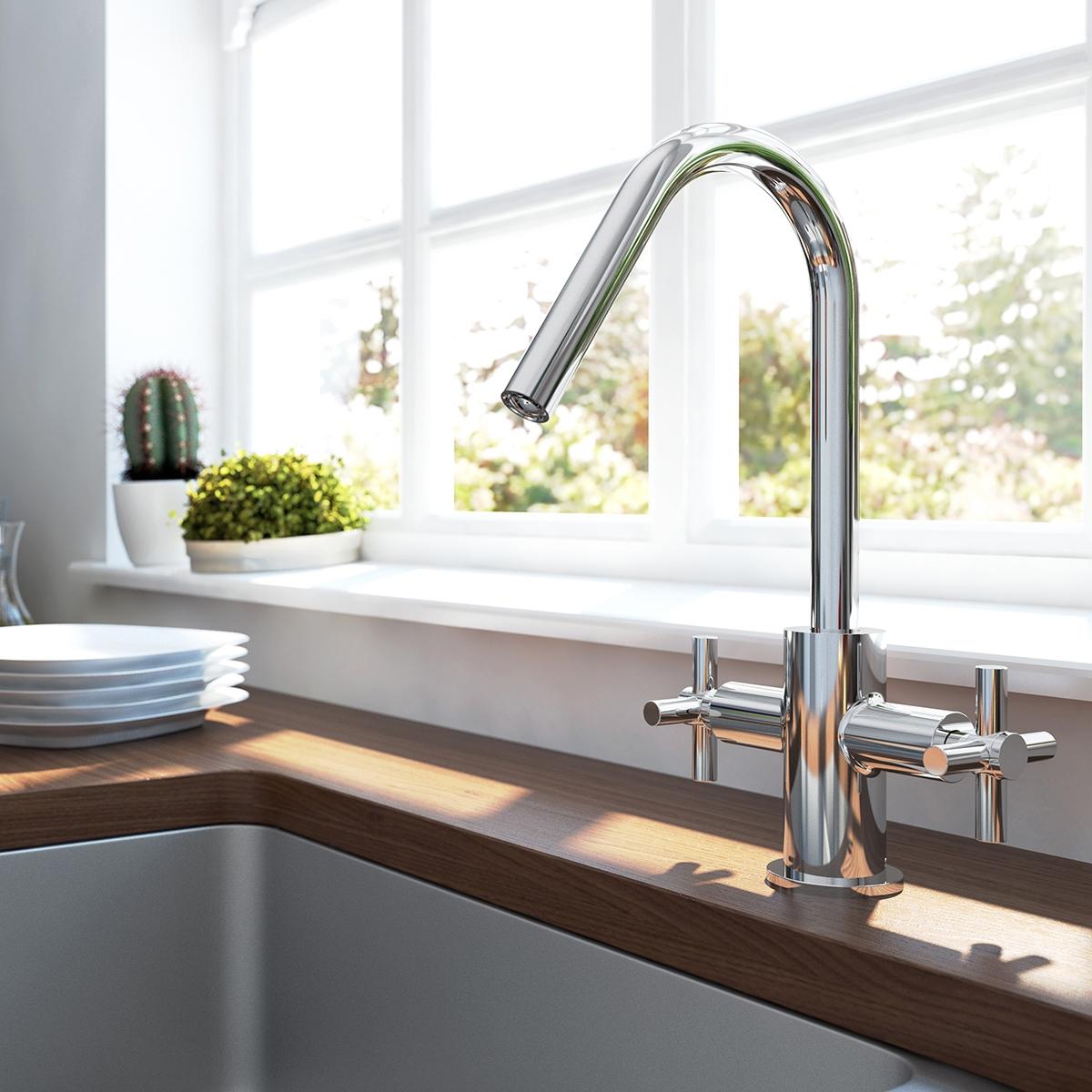 Bristan Pecan Easyfit Kitchen Sink Mixer Tap - Chrome