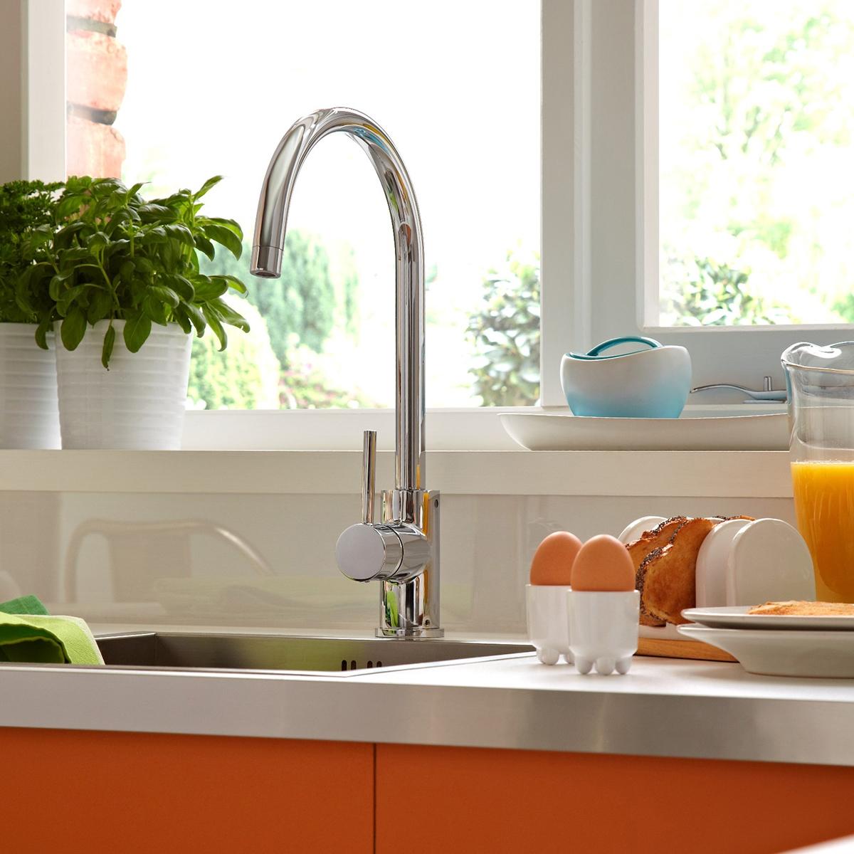 Bristan Pistachio Kitchen Sink Mixer Tap Single Handle - Chrome