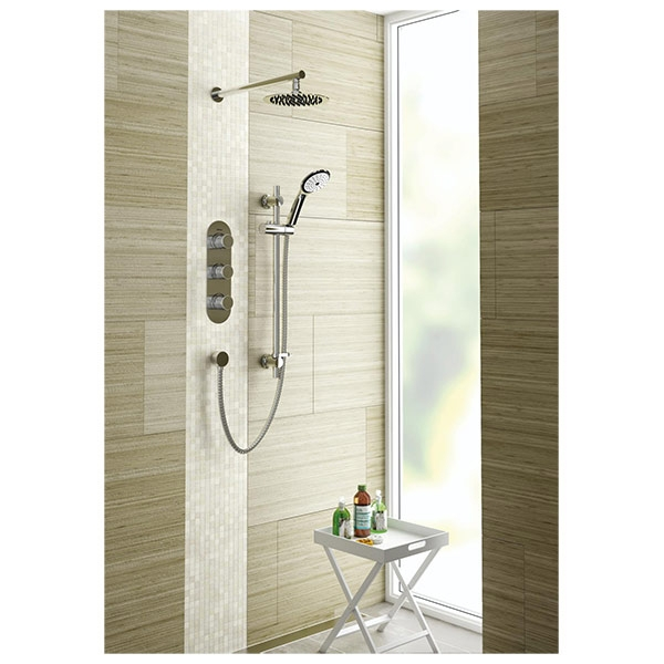 Bristan Pivot Triple Concealed Mixer Shower with Shower Kit + Fixed Head-0