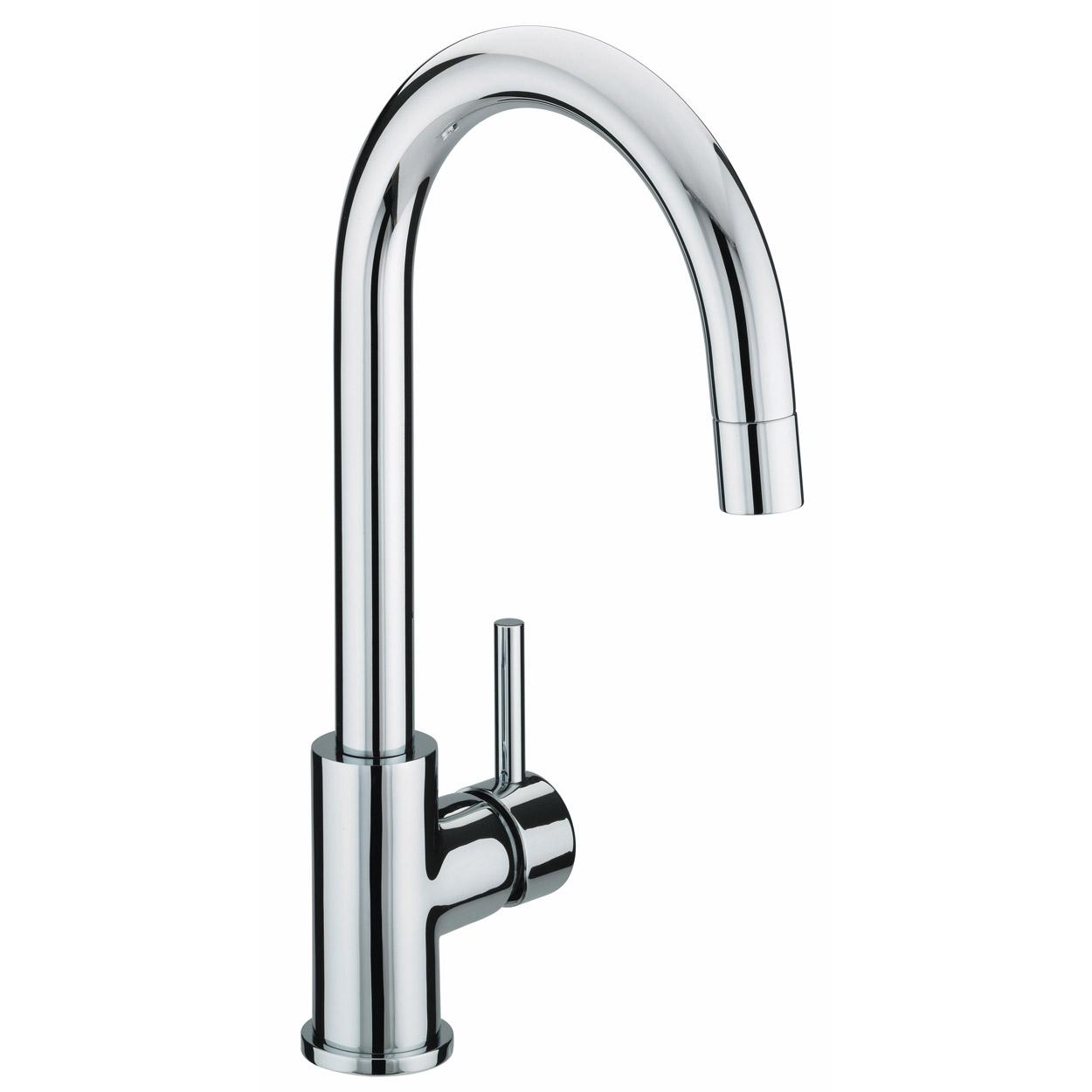 Bristan Prism Mono Kitchen Sink Mixer Tap, Single Handle, Chrome-0