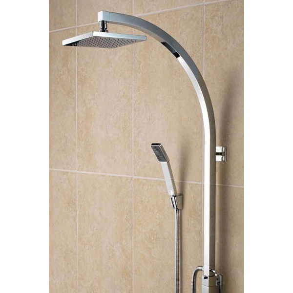 Bristan Qube Inline Dual Exposed Mixer Shower with Shower Kit + Fixed Head-0