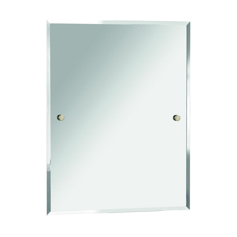 Bristan Rectangular Bathroom Mirror 550mm Wide - Gold