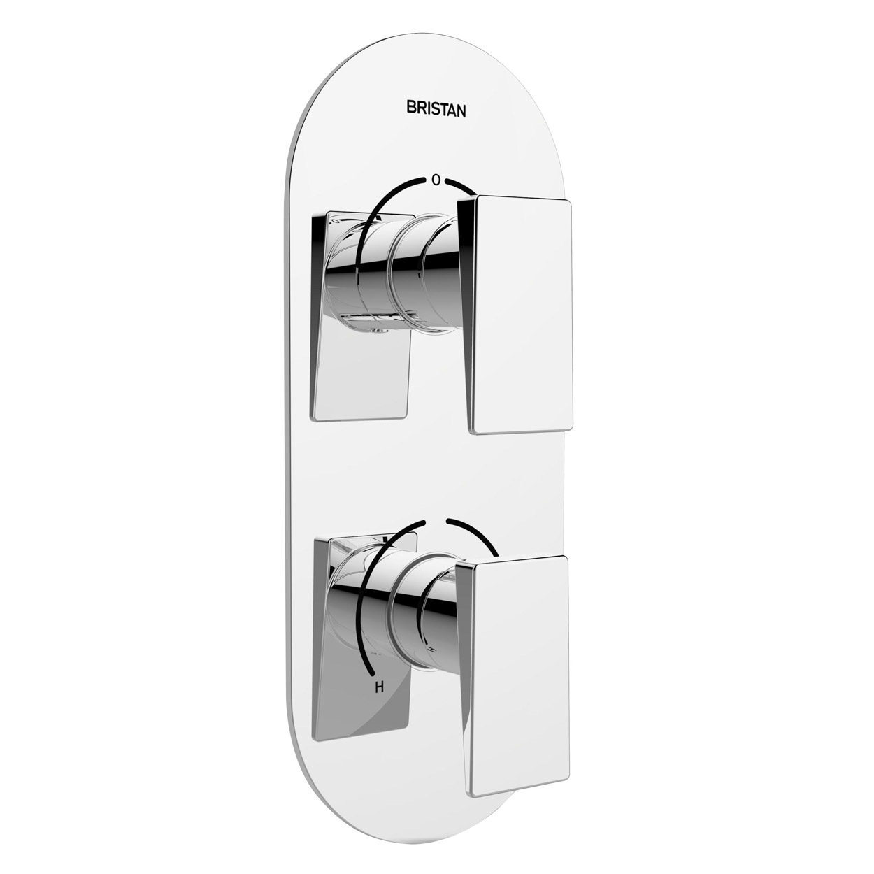 Bristan Sail Thermostatic Recessed Dual Control Shower Valve with Two Outlet Diverter - Chrome