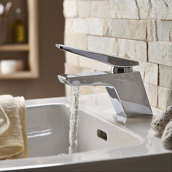 Bristan Sail Mono Basin Mixer Tap Single Handle with Clicker Waste - Chrome