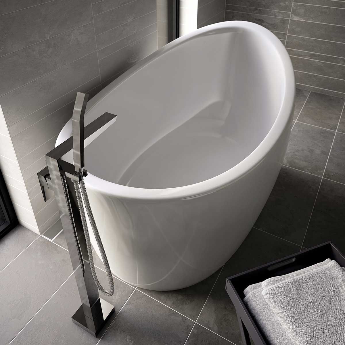 Bristan Sail Bath Shower Mixer Tap, Floor Mounted, Chrome