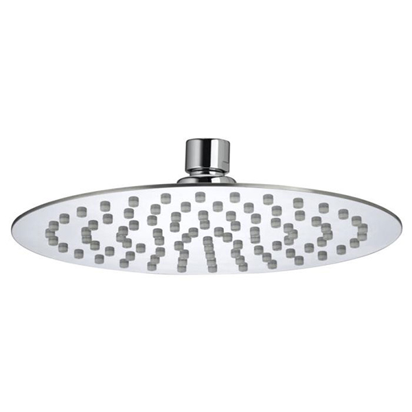 Bristan Slimline Round Fixed Shower Head, 200mm Diameter, Chrome