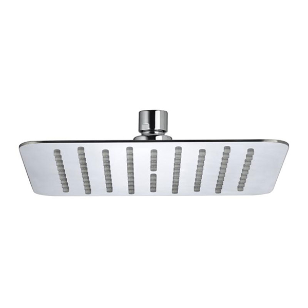 Bristan Slimline Square Fixed Shower Head, 200mm x 200mm, Chrome