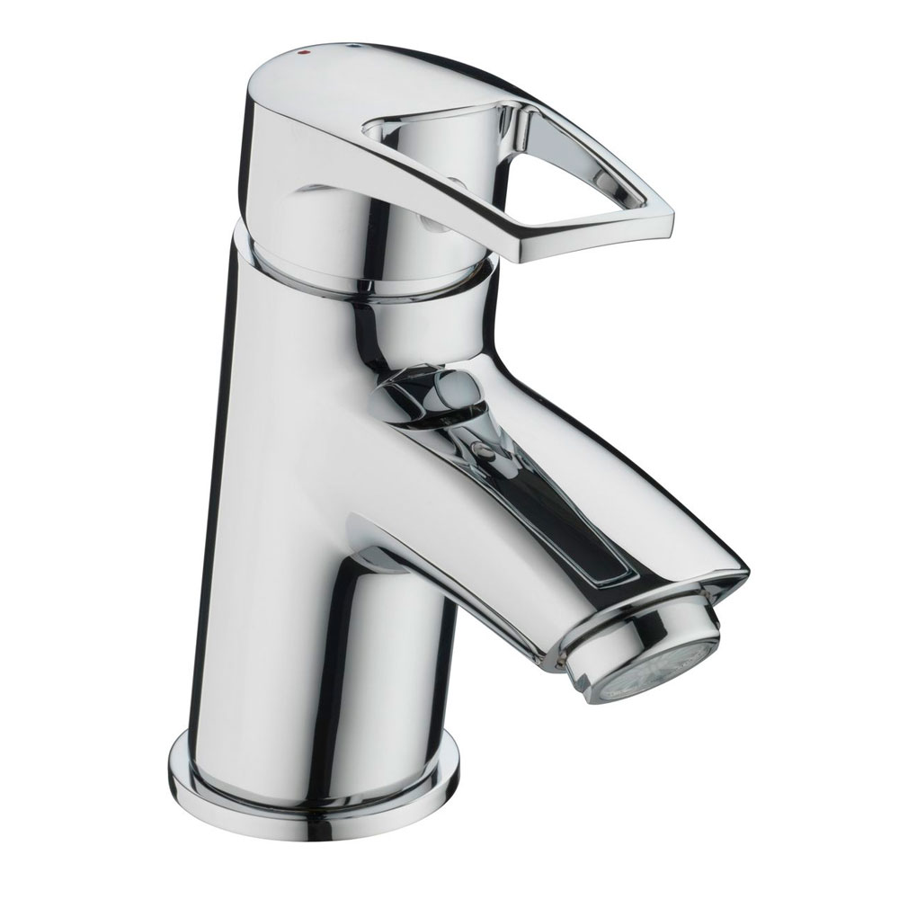Bristan Smile Mono Basin Mixer Tap Single Handle with Clicker Waste - Chrome