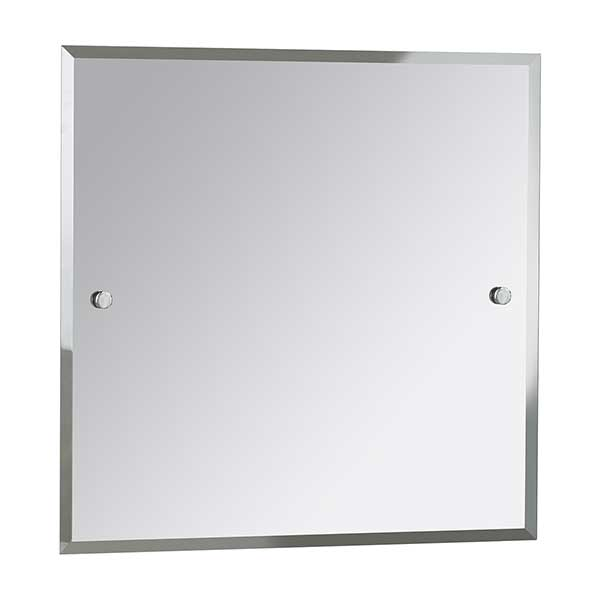 Bristan Square Bathroom Mirror 600mm H x 600mm W - Chrome