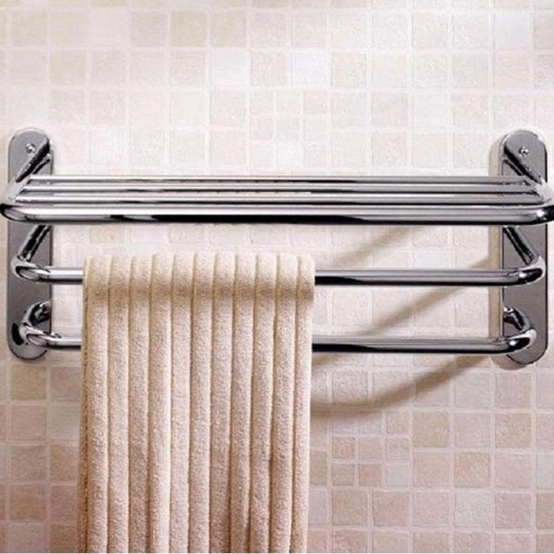 Bristan Tier Modern Towel Shelf - Chrome