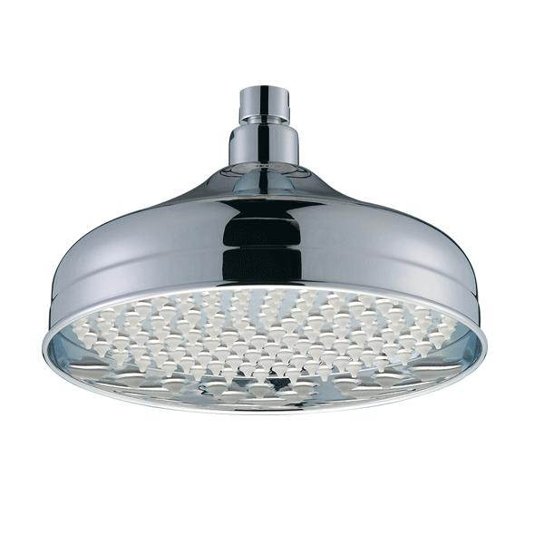 Bristan Traditional Fixed Shower Head, 200mm Diameter, Chrome-0