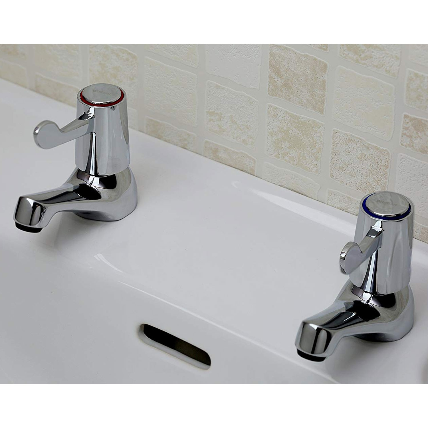 Bristan Value Lever Bath Taps Chrome Plated with Ceramic Disc Valves