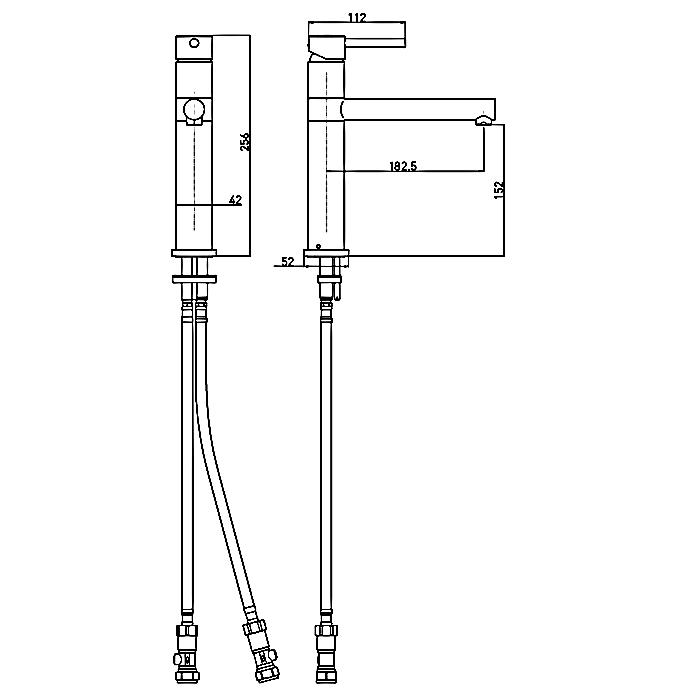 Bristan Vegas EasyFit Mono Kitchen Sink Mixer Tap, Single Handle, Chrome-0