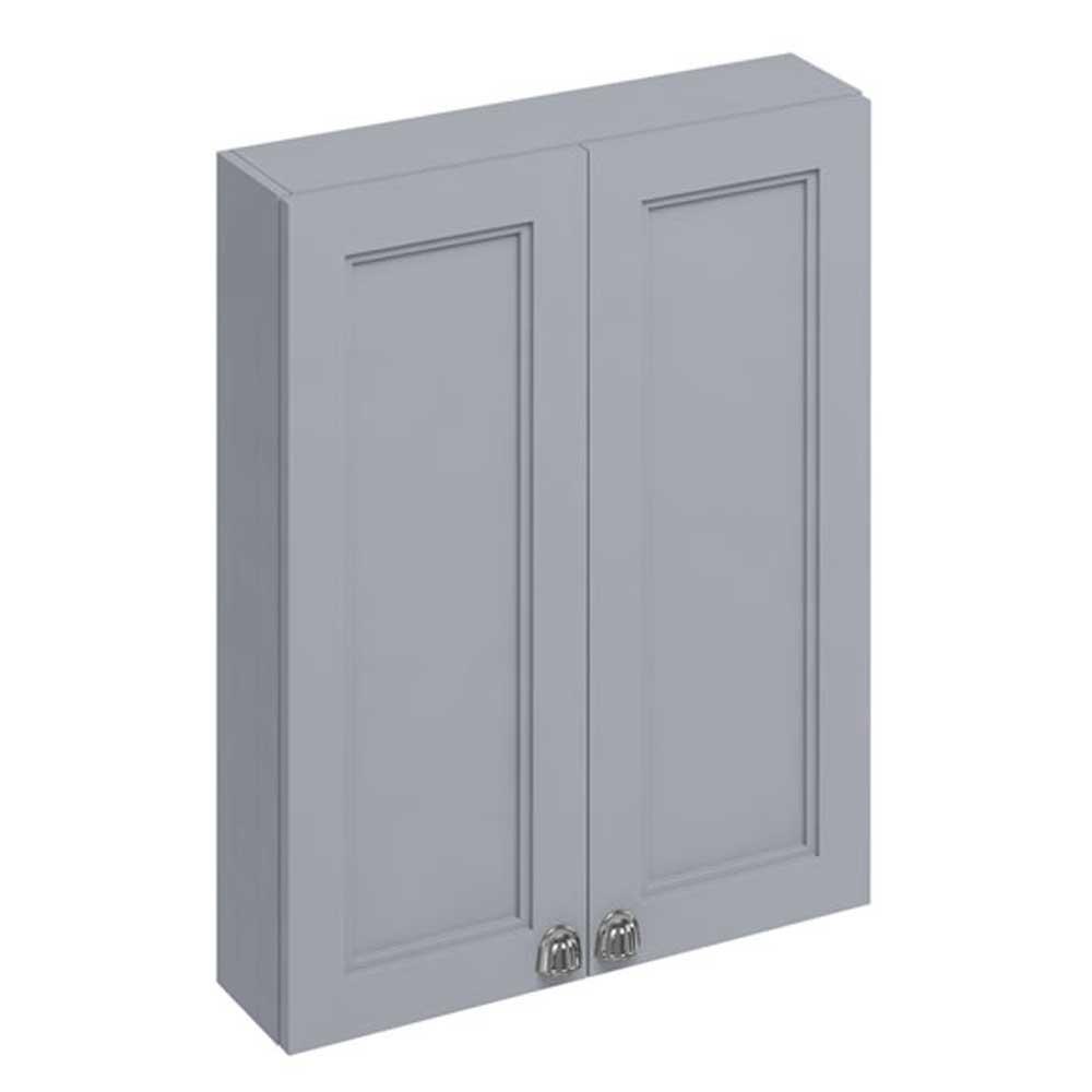 Burlington 60 Fitted 2-Door Wall Cabinet Unit 600mm Wide - Classic Grey