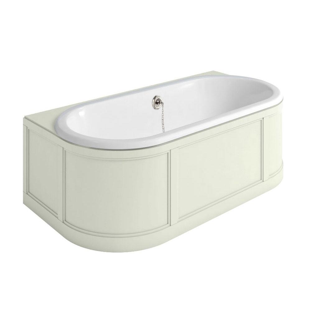 Burlington Complete Bathroom Suite, 1800mm x 950mm Back to Wall Bath, Sand-0