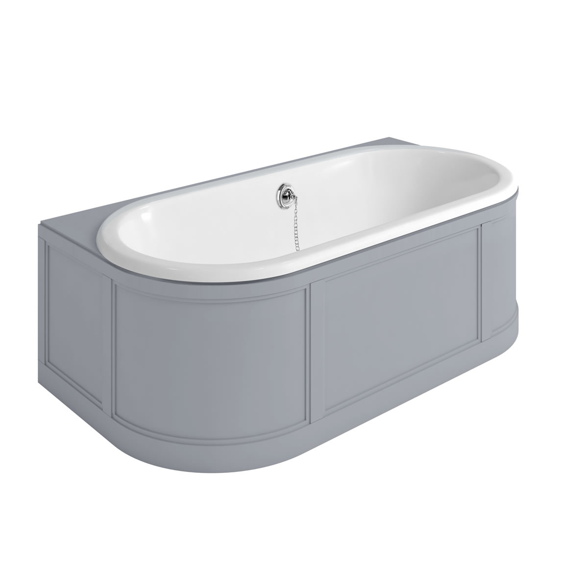 Burlington Complete Bathroom Suite, 1800mm x 950mm Back to Wall Bath, Olive