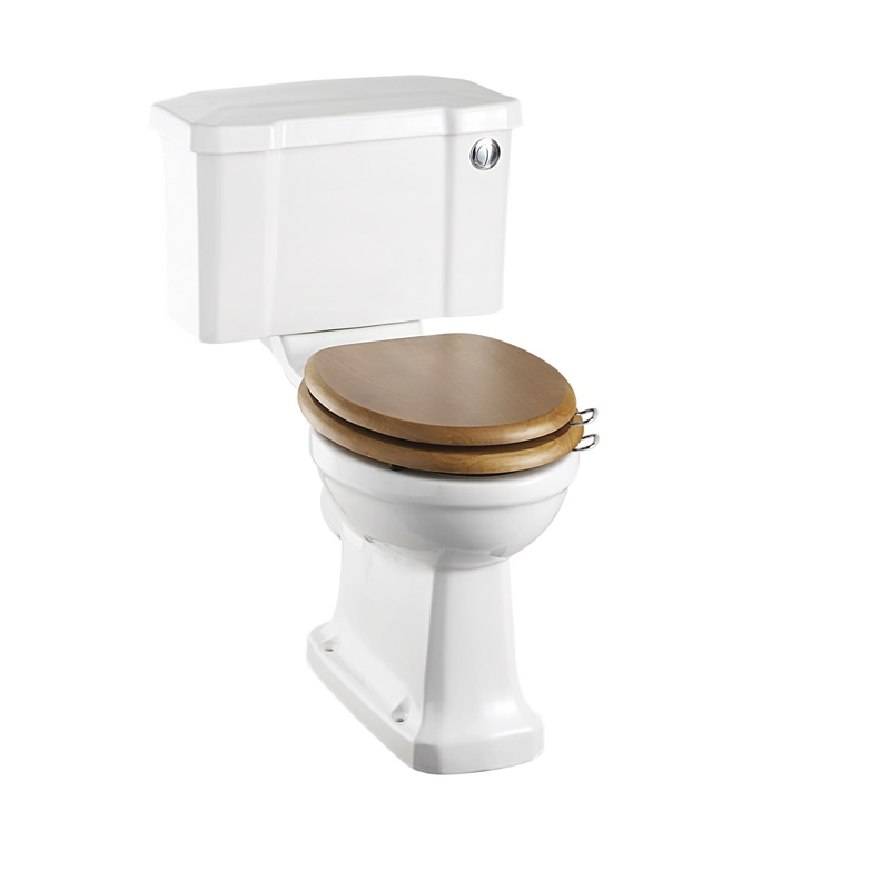 Burlington Bathroom Suite, Standard Close Coupled Toilet, Push Button Cistern