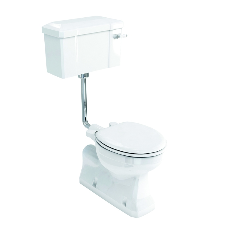 Burlington Bathroom Suite, S-Trap Low Level Toilet, Lever Cistern