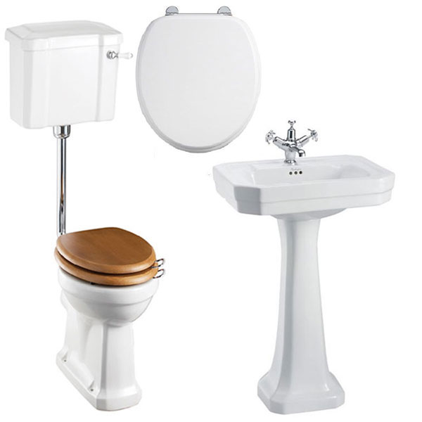 Burlington Bathroom Suite, 560mm Wide Victorian Basin, 1 Tap Hole