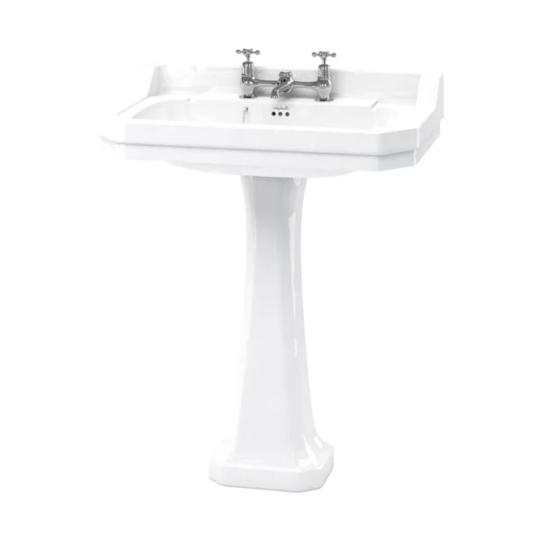 Burlington Edwardian Basin with Regal Full Pedestal, 800mm Wide, 2 Tap Hole