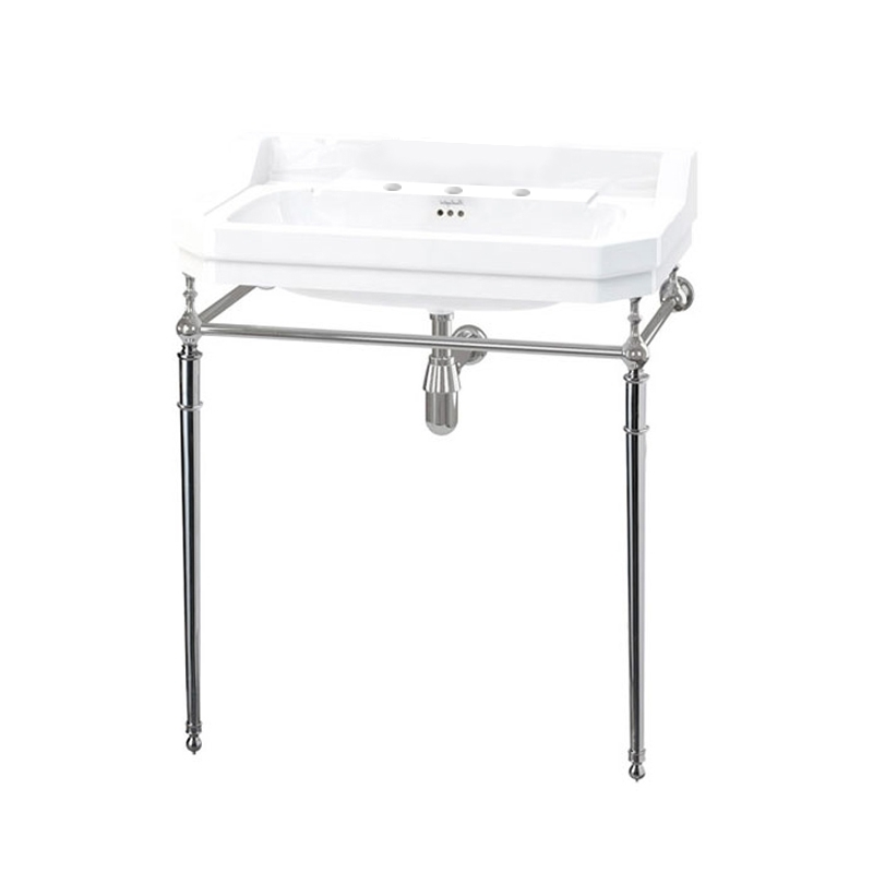 Burlington Edwardian Basin with Regal Chrome Wash Stand, 800mm Wide, 3 Tap Hole