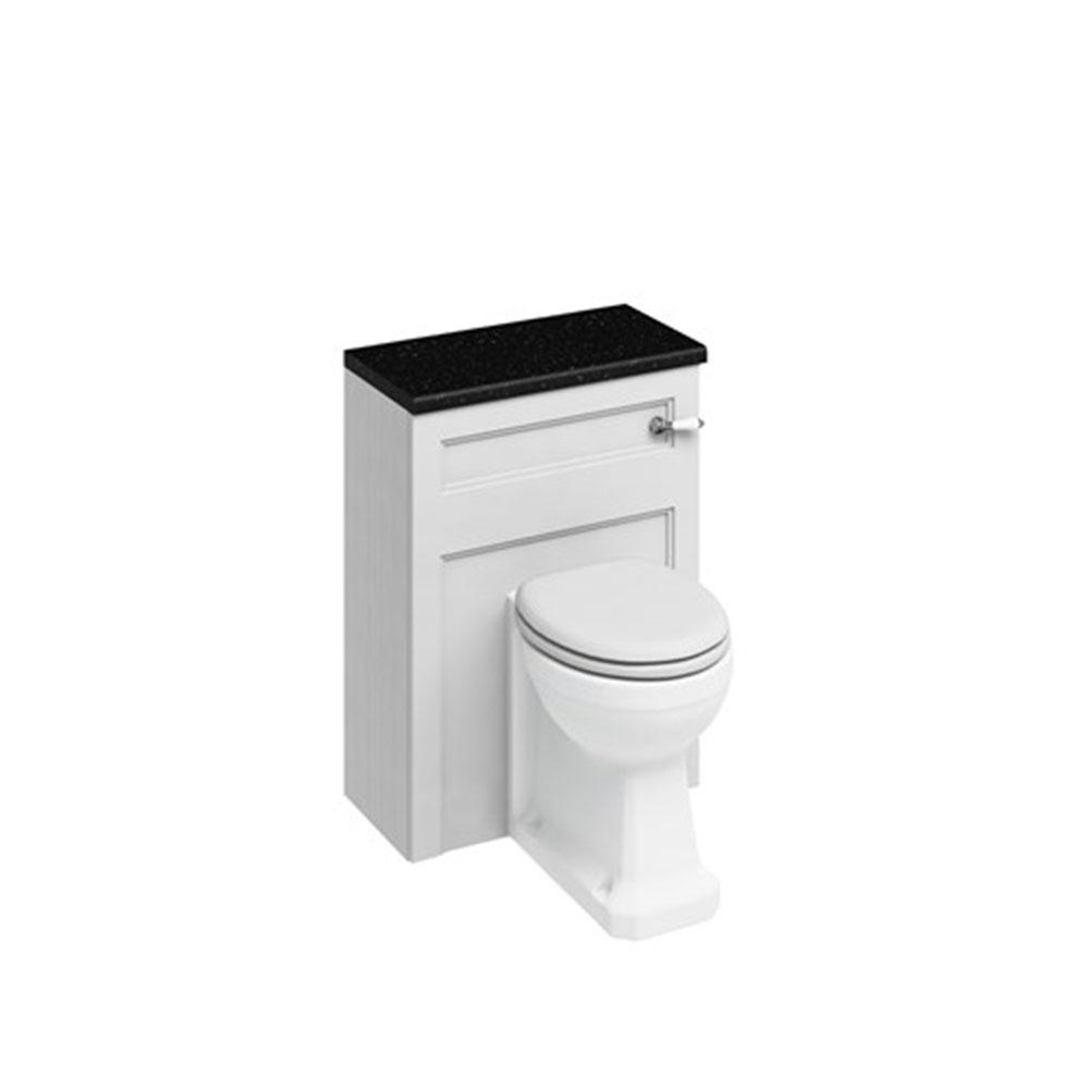 Burlington Furniture Bathroom Suite 670mm Wide Vanity Unit Matt White - 0 Tap Hole-0