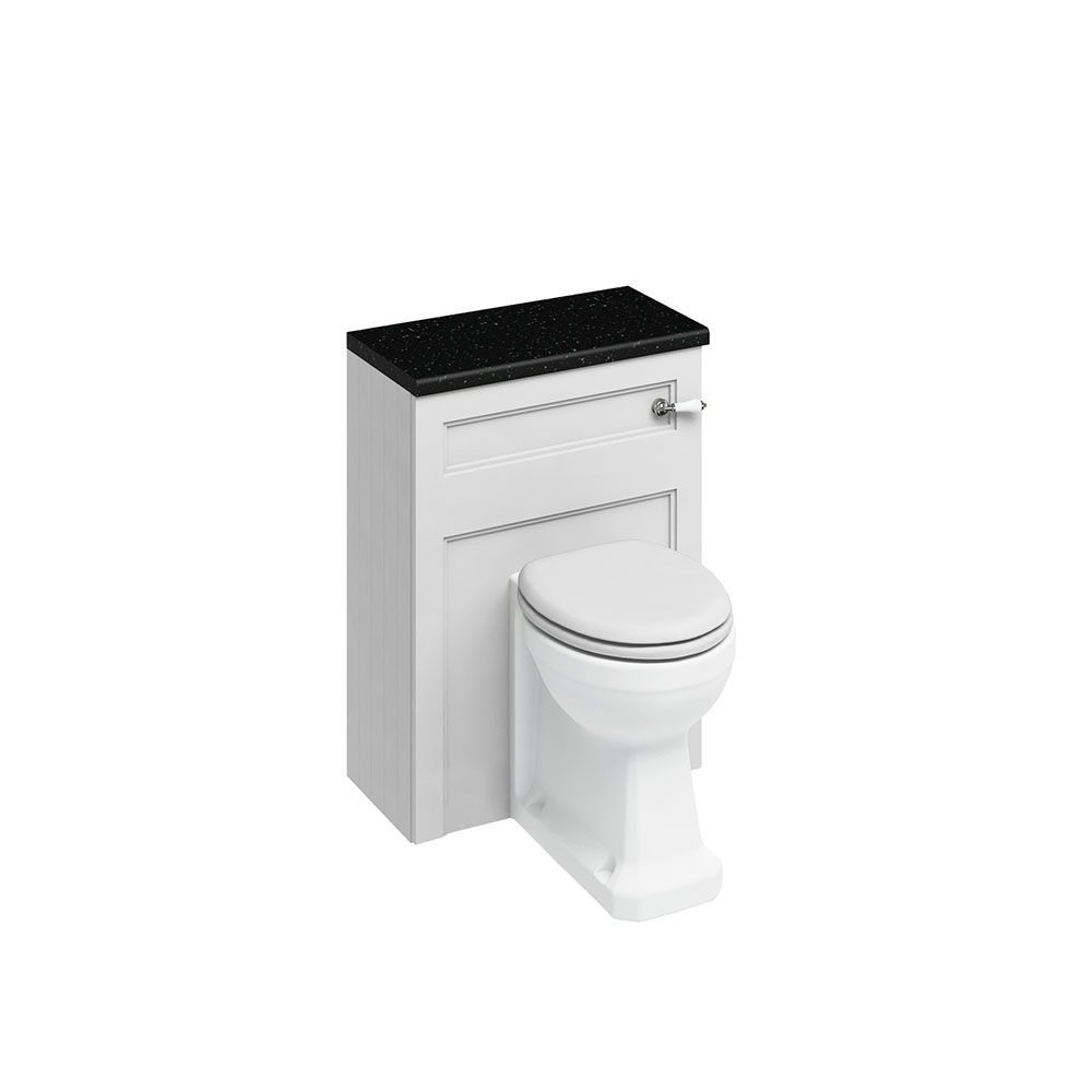 Burlington Furniture Bathroom Suite 980mm Wide LH Vanity Unit Matt White - 0 Tap Hole