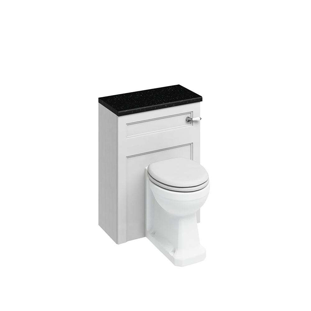 Burlington Furniture Bathroom Suite 980mm Wide RH Vanity Unit Matt White - 0 Tap Hole