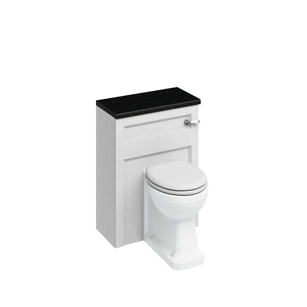 Burlington Furniture Bathroom Suite 670mm Wide Vanity Unit Sand - 0 Tap Hole-0