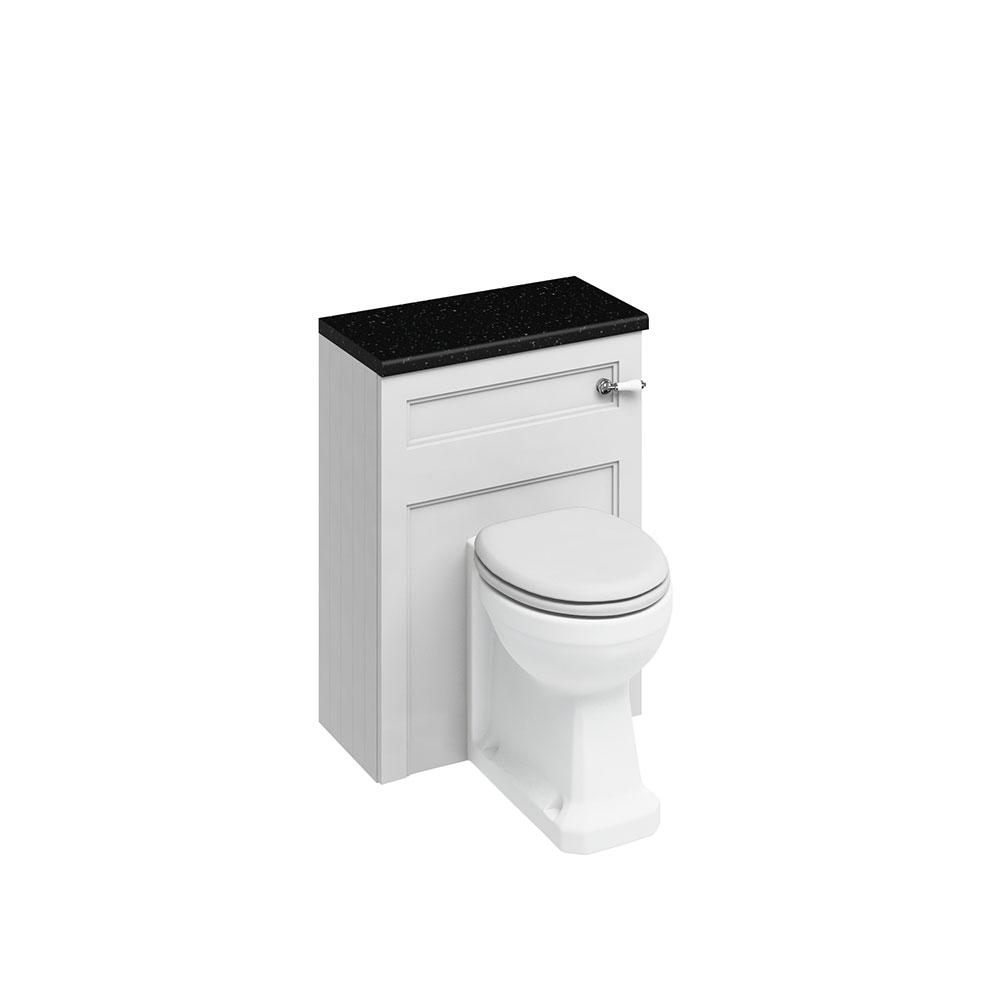 Burlington Furniture Bathroom Suite 980mm Wide LH Vanity Unit Sand - 0 Tap Hole-0