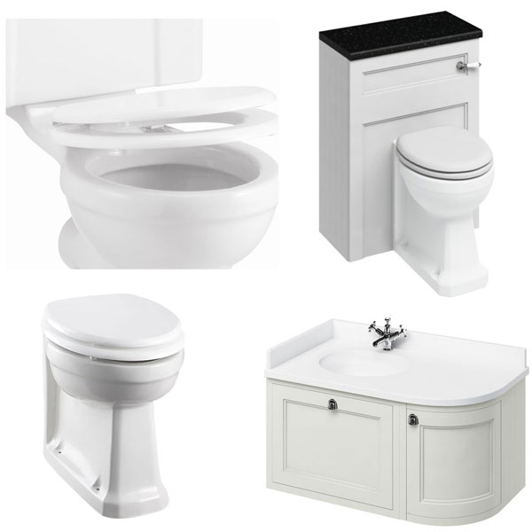 Burlington Furniture Bathroom Suite 980mm Wide LH Vanity Unit Sand - 0 Tap Hole
