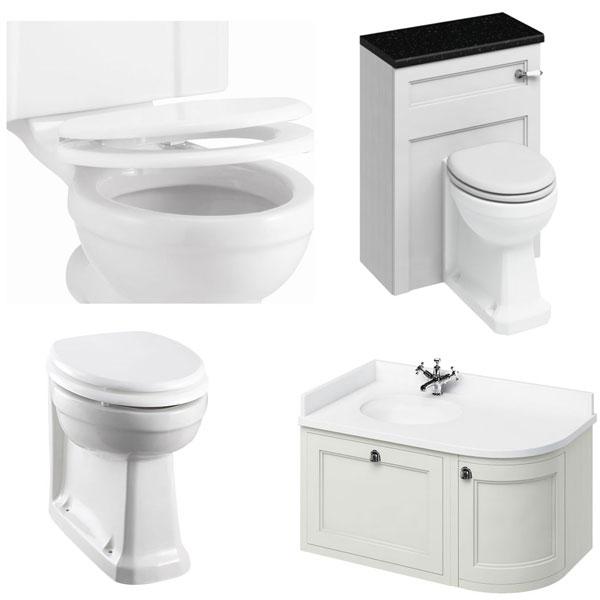 Burlington Furniture Bathroom Suite 980mm Wide LH Vanity Unit Sand - 0 Tap Hole-2