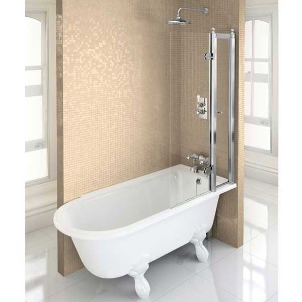Burlington Hampton LH Freestanding Shower Bath 1690mm x 750mm - Excluding Feet