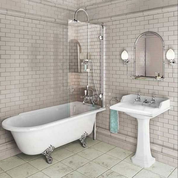 Burlington Hampton LH Freestanding Shower Bath 1500mm x 750mm - Excluding Feet